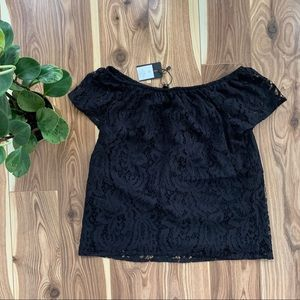 *NWT* DYNAMITE | black lace off the shoulder